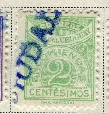 URUGUAY;  1927 early Parcel Post Stamp used 2c. value