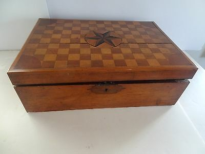 Antique Writing Slope - Inlaid Marquetry wood - Box
