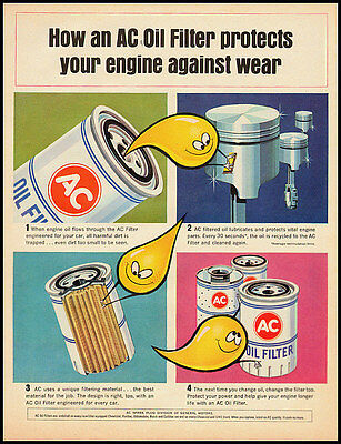 1965 vintage ad for AC Oil Filters  -111811