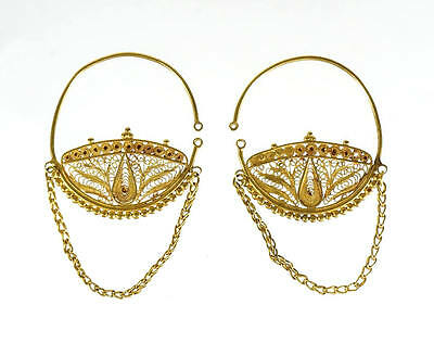 Pair of Roman gold earring 100 AD.