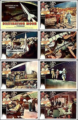 DESTINATION MOON  SCI-FI  COMPLETE SET OF 8  INDIV 11x14 LOBBY CARD PRINTS1950