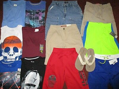 Boys Summer Size 10 12  Lot CLOTHES & OUTFITS  TCP Old Navy RL Arizona NWT'S
