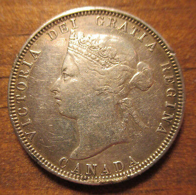 Canada 1881-H Silver 25 Cents