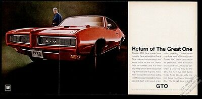 1968 Pontiac GTO car color photo Return Of The Great One vintage print ad