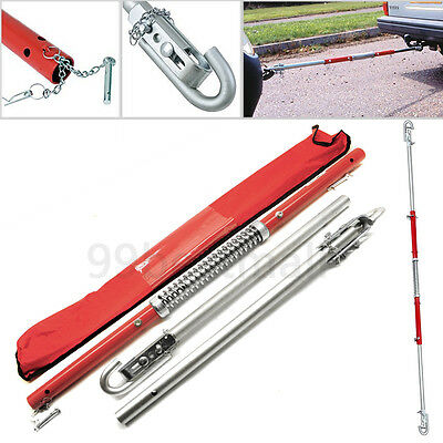 New 2 Tonne Recovery Tow Bar Towing Pole C/W Spring Loaded Damper UK