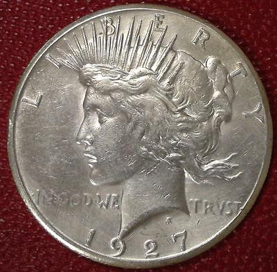 **better Date***1927 P Peace Silver Dollar #b231