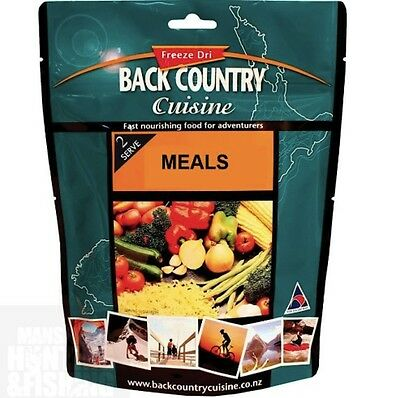 Back Country Cuisine Freeze Dri Meals - 2 Serves - 11 Varieties - Hiking