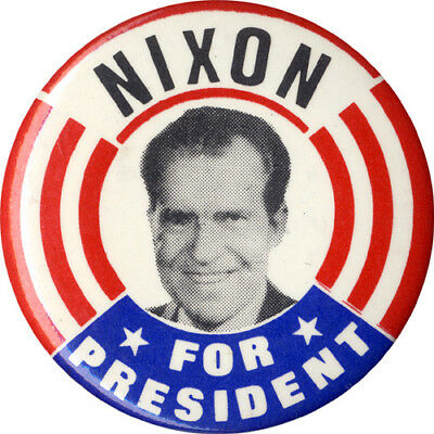 1968 Richard Nixon for President Campaign Button ~ Bold Design! (5214)