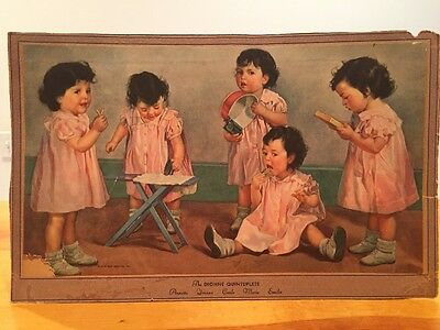 The Dionne Quintuplets Print  Ready To Frame Vintage Print 1936 NEA Service Baby