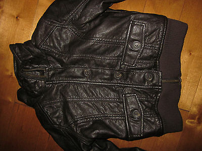 BOYS  Size  5 - 6 YRS   L.O.G.G.  Brown  FAUX LEATHER Spring  Lined JACKET Coat