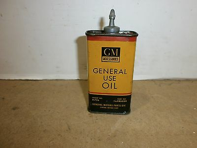GM ACCESSORIES, GENERAL USE OIL 4oz CAN, LEAD TOP, HARD TO FIND,