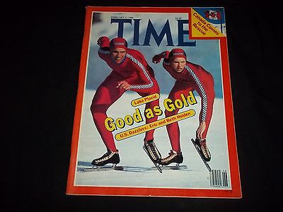 1980 February 11 Time Magazine - Eric And Beth Heiden - Front Cover - F 1293