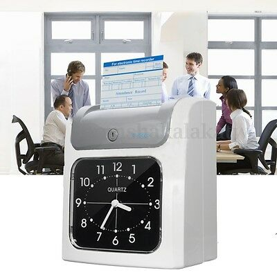 Employee Time Attendance Bundy Clock Electronic Recorder with Time Clock Cards