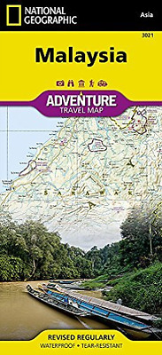 National Geographic Maps-Malaysia  (UK IMPORT)  AC NEW