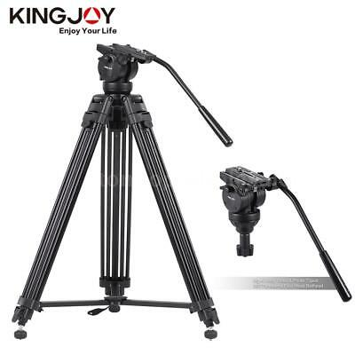 "Professional 61"" Heavy Duty Tripod Monopod Stand Fluid Pan Head for DSLR Camera"