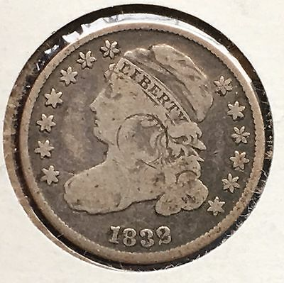 1832 10C Capped Bust Dime [Auto. Combined Shipping](28706)