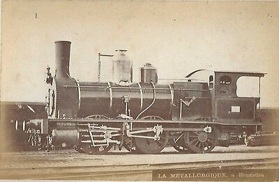 Photo 1890 METALLURGIQUE Bruxelles Locomotive Train  Tubize Nivelles & la Sambre