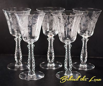 Fostoria Heather Cordial Glasses Goblets Lot of 5