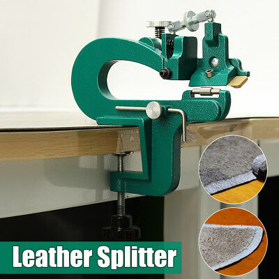 DIY Manual Leather Paring Edge Skiver Splitter Leather Skiving Machine + Blades