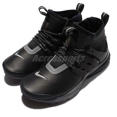Wmns Nike Air Presto Mid Utility DWR Water-Repellent Black Grey Women 859527-002