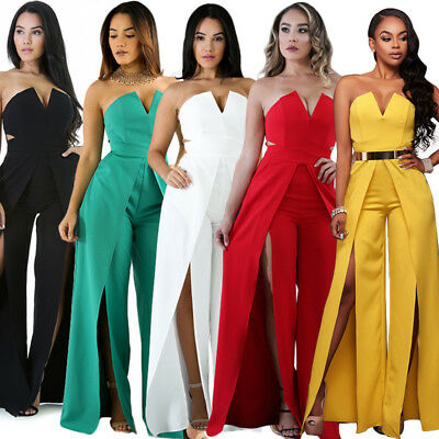 Women's Clubwear Summer Playsuit Bodycon Jumpsuit Dress Romper Trousers Shorts