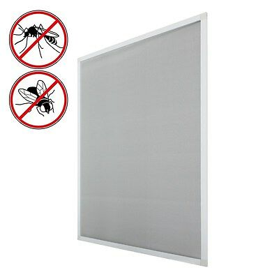 CLAMP FIXING WINDOW MOSQUITO BUG NETTING INSECT MESH FLY SCREEN WHITE 120x140 cm
