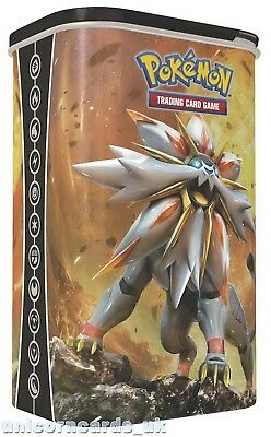 Pokemon Sun & Moon Deck Shield Tin: Solgaleo: 2 Booster Packs + 45 Energy Cards!