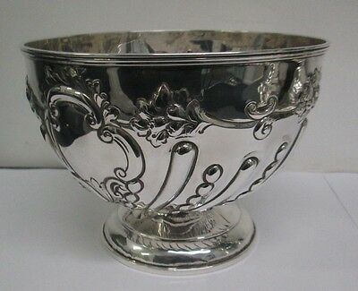 A Victorian Sterling Silver Punch Bowl by William Hutton & Sons