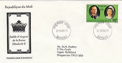 (01266) Mali FDC Queen Silver Jubilee 21 March 1977