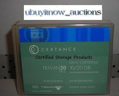 NEW Certance CTM20 TR-5 Travan DATA Tape Cartridge 10/20GB NS20 SEALED