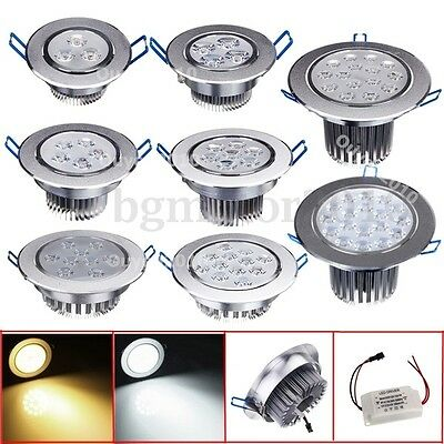 9-45W LED Frais/Chaud Blanc Spot Encastrable Ampoule Downlight Plafonnier Lampe
