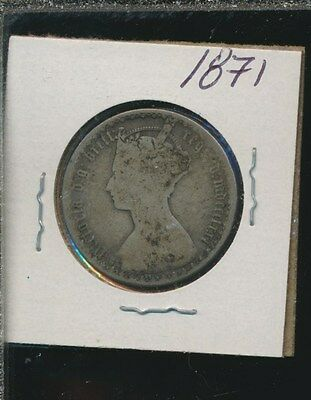 Great Britain  - Silver Florin - Gothic 1871