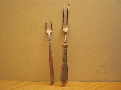 2 Vintage Pickle Forks H. Boker Germany + South Seas Community L@@k *free Ship*