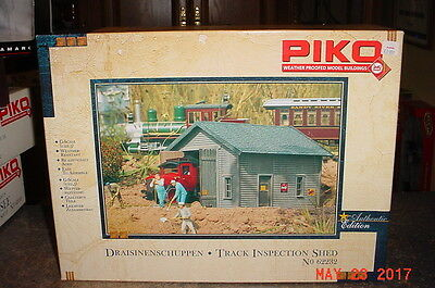 PIKO Draisinenschuppen Track Inspection Shed G Scale 1:22 Building Kit 62232 New