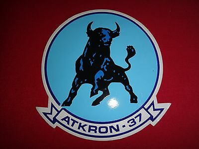 US Navy Strike Fighter Squadron ATKRON-37 RAGING BULL Decal Sticker *Never Used*