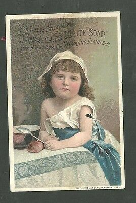 1880's Trade Card Lautz Bro's & Co's Marseilles White Soap Bewick Pennsylvania