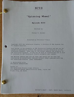 Ncis Tv Series Show Script Episode Spinning Wheel Mark Harmon