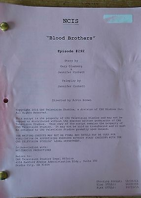 Ncis Tv Series Show Script Episode Blood Brothers Mark Harmon