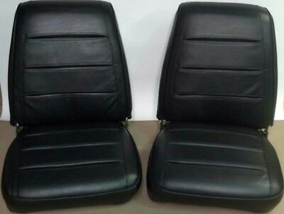 1968 Dodge Charger Seat Covers Black Front Buckets Upholstery 68 R/T 68KSA10U
