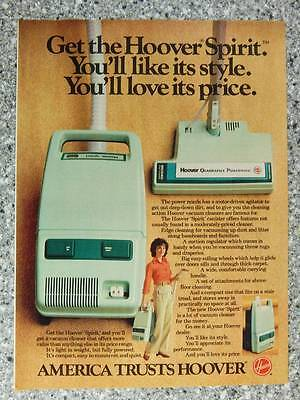 1982 Hoover Spirit Canister Vacuum Cleaner - Vintage Magazine Ad Page