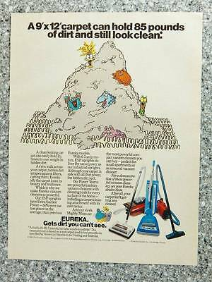 1983 Eureka Vacuum Cleaners - Vintage Magazine Ad Page - Canister and Upright