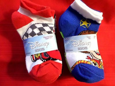 Lot Of 12 Disney Toddler Boys Socks Size 4-6 Age 3-5 Cars Toy Story Monsters ++