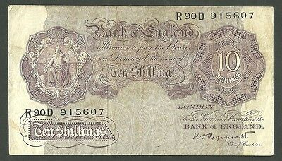 Currency Paper Money Note Great Britain 10 Shillings 1948/49 Pick 368A England