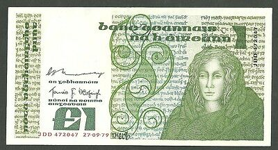 Currency Paper Money Note Ireland Murray-Ocdfaigh Pick # 70C Sept 27 1979