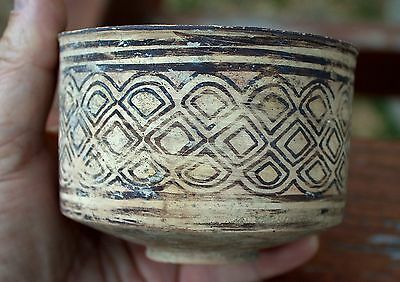 Amazing Authentic 3000 BC Artifact Painted Pottery Bowl Artifact Time Of Moses