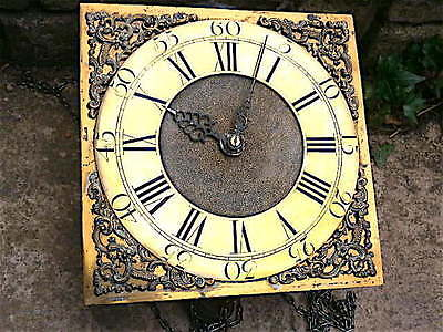 11x11 inch 30hr c1740 LONGCASE  CLOCK dial + movement