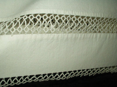 Vintage 1930s to 1950s Hand Tatted Unused Pair Pillowcases