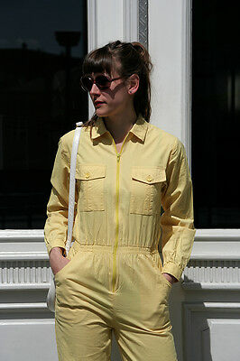 Damen Overall gelb 90er True VINTAGE 90s women jumpsuit yellow größe 36