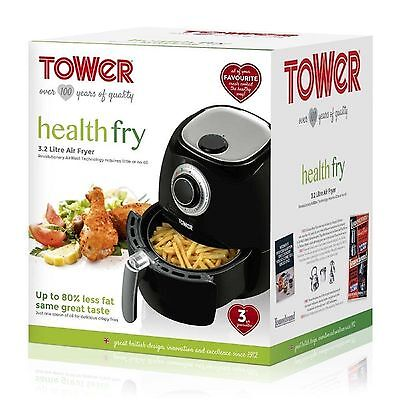 Tower 1350W 3.2L Black LOW FAT Air Fryer Healthy Eating T17005 -- SAME DAY SHIP