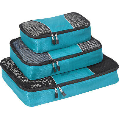 eBags Classic Packing Cubes - 3pc Set 16 Colors Travel Organizer NEW